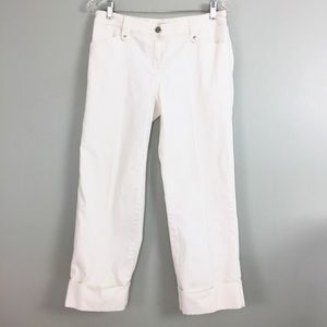 Cabi Pants Jeans 4 Capri Cropped Cuffed  Stretch